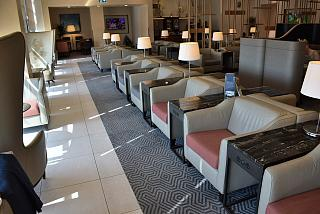 "In the lounge, ""SilverKris"" Singapore airlines in terminal 2 at London Heathrow airport"