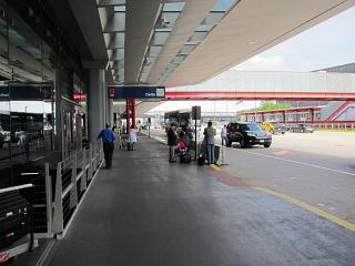 Entrance to airport terminal 2, Chicago O'hare