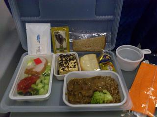 Food on the flight from Moscow to Ulan-Ude the Vladivostok Avia airlines company