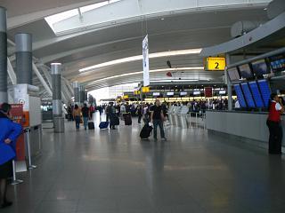 In terminal 4 of JFK airport in new York