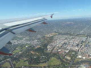 In flight over the Adelaide