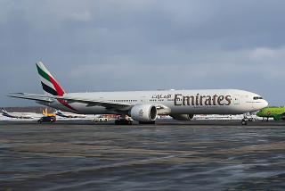 Boeing-777-300 Emirates airlines at Domodedovo airport