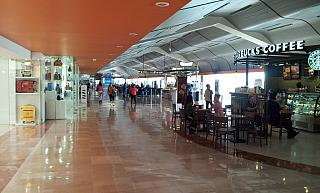 In a clean area of the airport of Guadalajara
