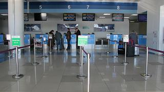 Reception for international flights at the airport of Vladivostok
