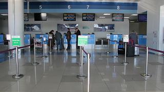 Стойки регистрации на международные рейсы в аэропорту Владивостока