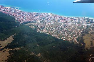 The village of Sveti Vlas on the black sea coast of Bulgaria