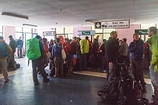 Check-in at the Lukla airport