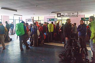 Стойки регистрации в аэропорту Лукла