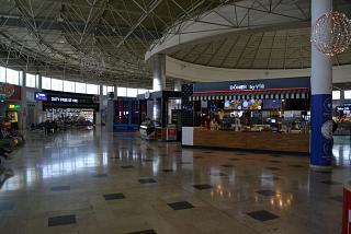 """Clean"" area of international departures in Terminal 1 of Antalya airport"
