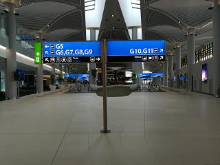 Landing gallery of new Istanbul airport