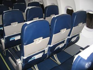 Seats economy class-Boeing-737-800 Ukraine International airlines
