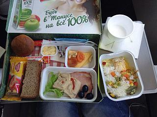 Питание на рейсе Улан-Удэ-Москва авиакомпании S7 Airlines