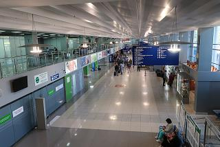 General area of the passenger terminal of the Tomsk airport