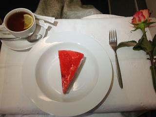 Десерт в бизнес-классе на рейсе Аэрофлота Москва-Владивосток