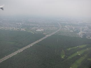 Before landing at the airport of Frankfurt am main