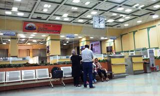 The departure area at the airport in Shiraz