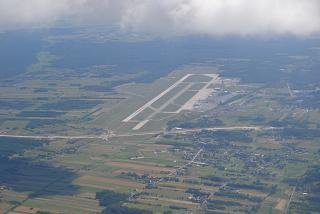 Top view of the Katowice airport