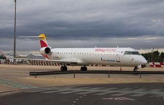 Bombardier CRJ-900 EC-JZS airline Air Nostrum in the Valencia airport