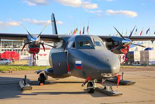 The L-410 aircraft of the Russian air force at the air show MAKS-2017