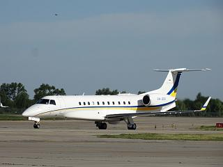 Embraer EMB-135BJ Legacy at the airport Kiev Borispol