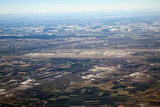 Munich airport and the surrounding area