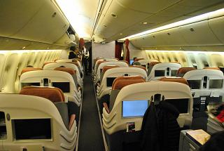 The business class Boeing-767-300 of the airline LATAM Brasil