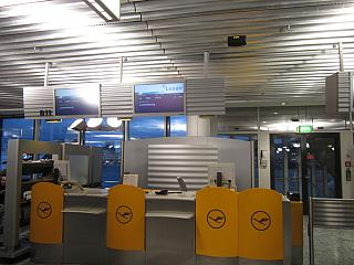 The gate at the airport of Frankfurt am main