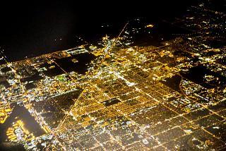 Ночной полет над городом Майами