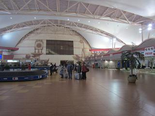 The baggage claim hall in terminal 1 of the airport of Sharm-El-Sheikh