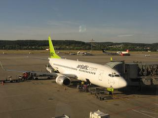 Boeing 737-300 Air Baltic airlines at Zurich airport