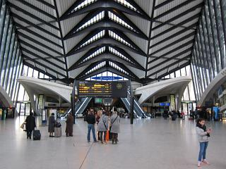 The airport railway station Lyon-Saint-exup
