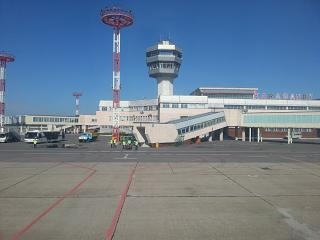 The terminal of the airport of Karaganda