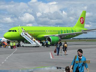 Aibus A320 VQ-BRG S7 Airlines at Tolmachevo airport