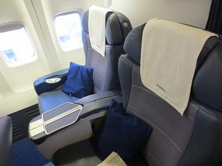 Seats in business class on the Boeing-737-800 Jet Airways