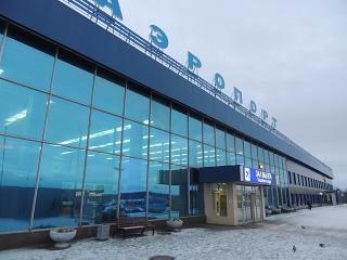 The terminal of the airport of Murmansk