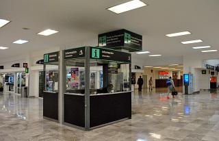 The information booth in the T1 terminal airport Mexico city, Benito Juarez