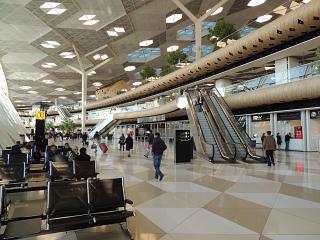 In the terminal 1 of the airport of Baku named after Heydar Aliyev