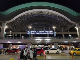 View of the passenger terminal of Istanbul Sabiha Gokcen Airport