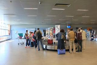 Baggage claim at the airport Tivat