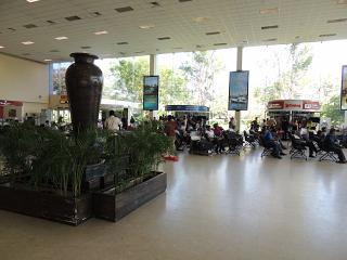 The arrivals hall at Colombo airport Bandaranaike international