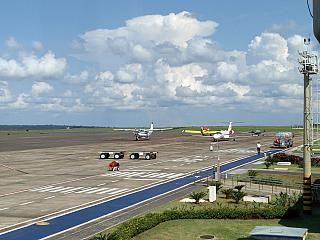 The platform of the airport of Foz do igua