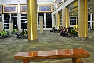 The waiting room at the airport Denpasar Ngurah Rai international