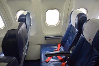 "Seat economy class in Airbus A319 VQ-BAS ""Sanicole"" airline ""Russia"""