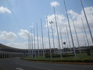 The terminal of the airport Nairobi Jomo Kenyatta