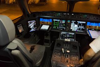 The cockpit in the aircraft, Bombardier CS300