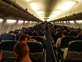 Салон самолета Боинг-737-800 Международных авиалиний Украины