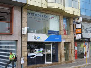 The Aeroflot representative office in mal