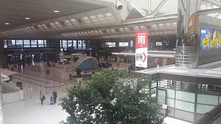 В пассажирском терминале аэропорта Токио Нарита