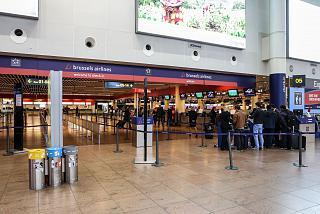 Зона регистрации Brussels Airlines в аэропорту Брюссель