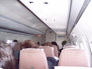 The cabin of the aircraft Yak-40 in Bugulma air enterprise